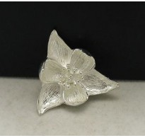 A000006 STERLING SILVER BROOCH FLOWER LOTUS SOLID 925 NEW