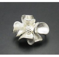 A000003 STERLING SILVER BROOCH FLOWER SOLID 925 NEW