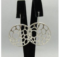 E000334 STERLING SILVER EARRINGS  CIRCLE SOLID 925 NEW QUALITY
