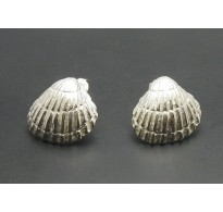E000001 Stylish Sterling Silver Earrings Shell 925