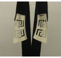 E000137 STERLING SILVER EARRINGS PLAIN SOLID 925 FRENCH CLIP