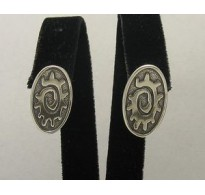 E000132 Sterling silver earings solid 925 Sun French clip