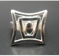 R000386 Sterling Silver Ring Geometric Genuine Solid 925 Handmade Nickel Free Empress
