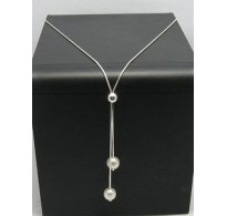 STERLING SILVER NECKLACE PEARLS NEW 925 PERFECT QUALITY