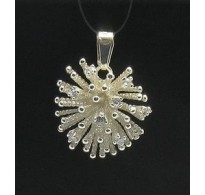 PE000319 Stylish Sterling silver pendant 925cubic zirconia hedgehog cz