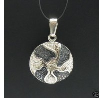 PE000358 Stylish Sterling silver pendant 925 solid oxidized