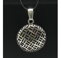 PE000339 Stylish Sterling silver pendant 925 solid Circle handmade quality