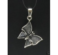 PE000270 Stylish Sterling silver pendant 925 butterfly charm solid