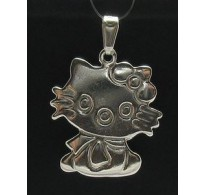 PE000267 Stylish Sterling silver pendant 925 cat charm solid