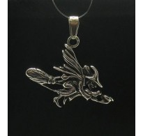 PE000268 Stylish Sterling silver pendant 925 charm witch solid