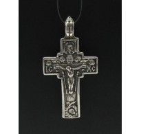 PE000223 Stylish Sterling silver pendant 925 cross orthodox quality solid
