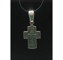 PE000231 Stylish Sterling silver pendant 925 cross orthodox quality solid
