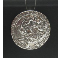 PE000172 Stylish Sterling silver pendant 925 Dragon solid