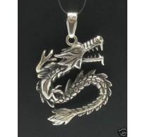 PE000279 Stylish Sterling silver pendant 925 dragon biker solid