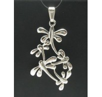 PE000271 Stylish Sterling silver pendant 925 dragonfly charm solid