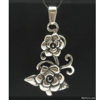 PE000361 Stylish Sterling silver pendant 925 flower rose quality