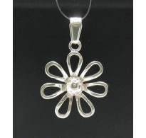 PE000402 Stylish Sterling silver pendant 925 solid flower charm