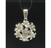PE000403 Stylish Sterling silver pendant 925 solid flower charm