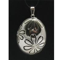 PE000177 Stylish Sterling silver pendant 925 Big Flower solid