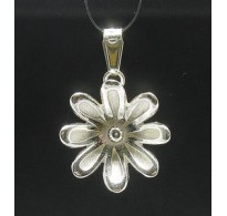 PE000308 Stylish Sterling silver pendant 925 charm flower solid