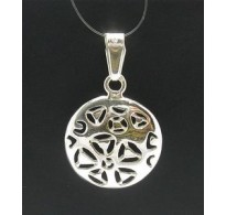 PE000340 Stylish Sterling silver pendant 925 solid Flower handmade quality