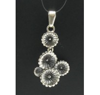 PE000341 Stylish Sterling silver pendant 925 solid Flower perfect quality