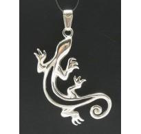 PE000298 Stylish Sterling silver pendant solid 925 gecko salamander
