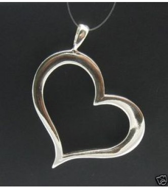 PE000007 STERLING SILVER PENDANT HEART VALENTINE 925 NEW CHARM