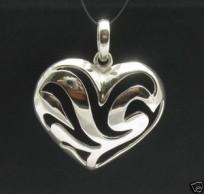 PE000367 Stylish Sterling silver pendant 925 heart valentine