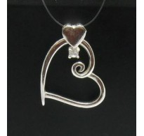 PE000354 Stylish Sterling silver pendant 925 heart with cubic zirconia