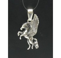 PE000275 Stylish Sterling silver pendant 925 horse unicorn charm solid