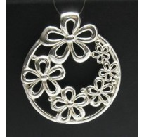PE000099 STERLING SILVER PENDANT HUGE FLOWER 295 NEW PERFECT