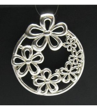 STERLING SILVER PENDANT HUGE FLOWER 295 NEW PERFECT