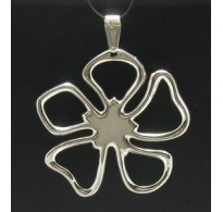 PE000297 Stylish Sterling silver pendant 925 charm flower solid