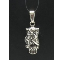 PE000266 Stylish Sterling silver pendant 925 owl charm solid