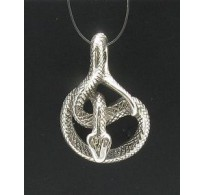 PE000381 STERLING SILVER PENDANT SNAKE 925 NEW CHARM QUALITY