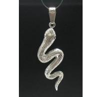 PE000392 STERLING SILVER PENDANT SNAKE 925 NEW PERFECT QUALITY