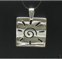 PE000210 Stylish Sterling silver pendant 925 Sun perfect quality solid