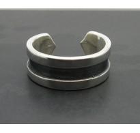 R000053 Sterling Silver Ring Band Biker Solid 925 Adjustable Size Handmade Empress