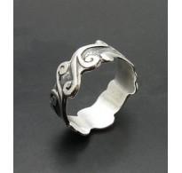 R000054 Genuine Sterling Silver Ring Band Stamped Solid 925 Nickel Free Handmade