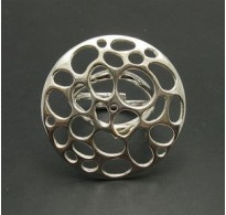 R000789 STERLING SILVER RING CIRCLE 925 ADJUSTABLE SIZE NEW