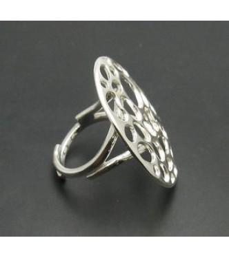 R000789 Genuine Sterling Silver Ring Hallmarked Solid 925 Adjustable Size Handmade