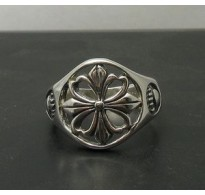 R000090 Sterling Silver Ring Cross Claw Biker Stamped Solid 925 Nickel Free Empress