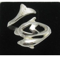 R000039 Plain Sterling Silver Ring Stamped Genuine Solid 925 Dolphin Handmade Empress