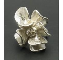 R000677 Stylish Sterling Silver Women's Ring Solid 925 Flower Handmade Empress