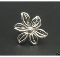R000189 STERLING SILVER RING FLOWER LOTUS 925 NEW QUALITY