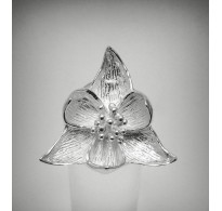 R000552 STERLING SILVER Ring Solid 925 Flower Lotus Adjustable size