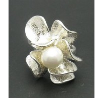 R000682P Stylish Sterling Silver Ring Hallmarked Solid 925 Pearl Empress Handmade