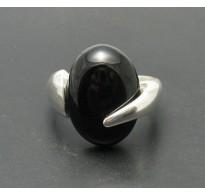 R000417 Sterling Silver Ring Solid 925 Black Onyx Handmade Empress