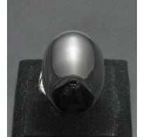 R000319 Plain Stylish Sterling Silver Ring Genuine Solid 925 Natural Black Onyx Handmade